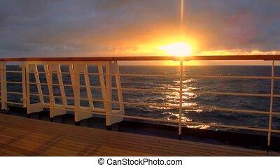 fjord, destination, -, amérique, sud, chilien, coucher soleil, voyage