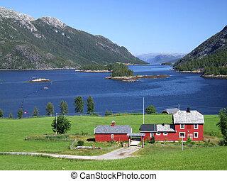 fjord, em, noruega