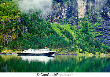 fjord, ferry-boat