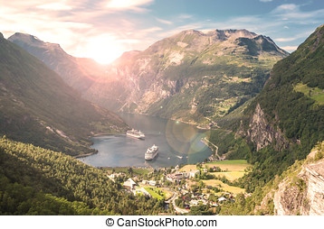 fjord, geiranger, norge