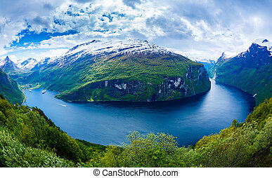 fjord, geiranger, norway.