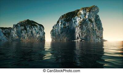 fjord, norvège, montagnes, rochers