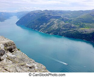 Fjord view from the Pulpit Rock