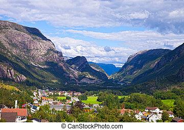 fjords, dans, norvège