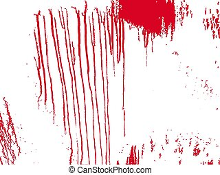 fläck, isolerat, splatter., vektor, blood., illustration, bakgrund., blod, fläckar