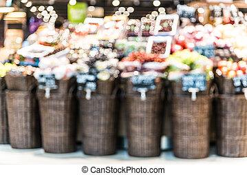 fläck, supermarket