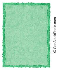 fläckat, papper, grön