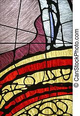 fläckig glas, kyrka, fönster