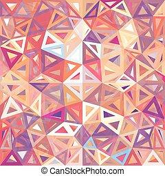 fläckigt, abstrakt, trianglar