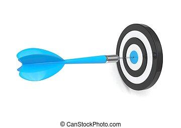 flèche, dards, dans, cible