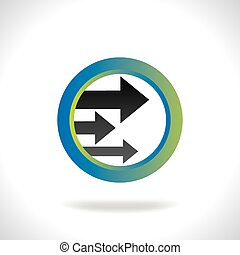 flèche, droite direction