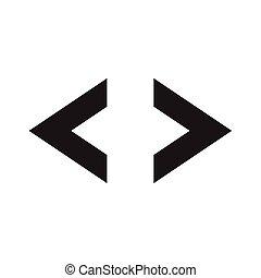 flèche droite, gauche