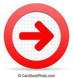 flèche droite, icône