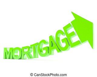 flèche, hypothèque, texte