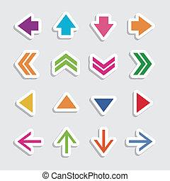 flèche, icônes