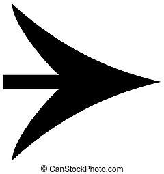 flèche noire