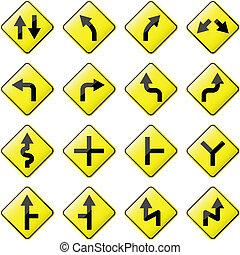 flèche, panneaux signalisations
