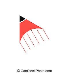 flèche, vecteur, crayon, jeûne, logo, education