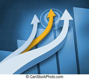 flèches, bleu, arrière-plan numérique