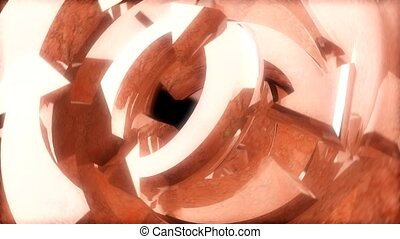 flèches, bronze