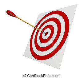 flèches, dans, les, cible
