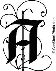 flèches, lettre