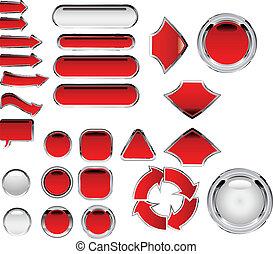 flèches, rouges