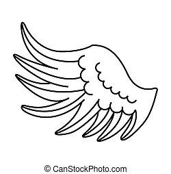 grafik engelchen vogel vektor tier fl gel ikone clipart vektor suchen sie nach. Black Bedroom Furniture Sets. Home Design Ideas