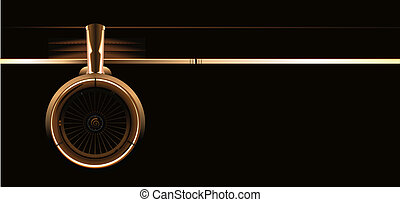 flügel , mit, turbine