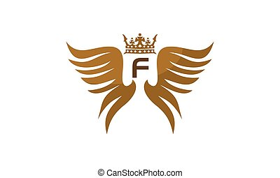 flügel , schutzschirm, krone, abzeichnen, f