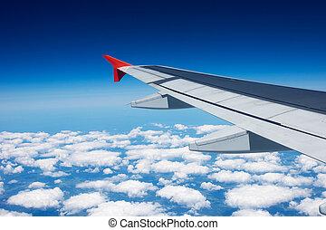 flügel , von, der, motorflugzeug