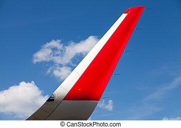 flügel , von, ein, motorflugzeug