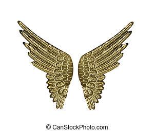 flügeln, gold