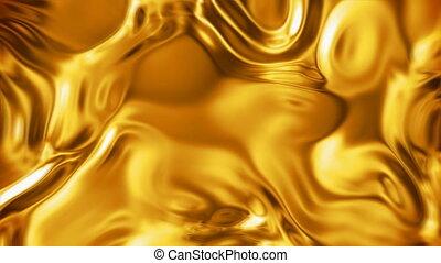 flüssiges gold, oberfläche