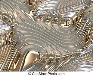 flüssiglkeit, abstrakt, metall, besänftigung, hintergrund, strömend