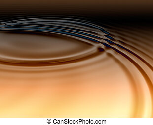flüssiglkeit, goldenes, ölig, kleine wellen
