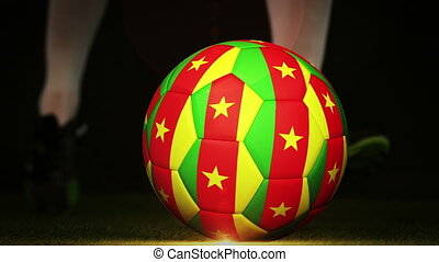 fl, football, camerounais, joueur, donner coup pied