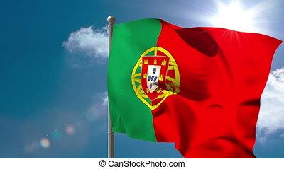 fl, onduler, portugal, drapeau national