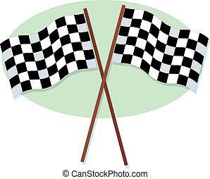 fla, checkered, courses