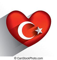 fla, coeur, résumé, créatif, turc