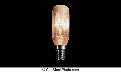 flackern, licht, lampe, brennt, zwiebel