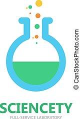 flacon, logo, symbole, ou, icône