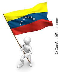 flag., άντρεs , βενεζουέλα