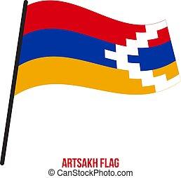 flag., εθνικός , εικόνα , ανεμίζω , φόντο. , σημαία , μικροβιοφορέας , artsakh, άσπρο