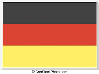 flag., εθνικός , μικροβιοφορέας , γερμανία , illustration.