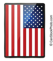 flag., アメリカ人, ベクトル, illustration.