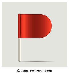 flag., ベクトル, illustration., 赤