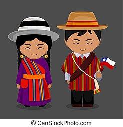 flag., 国民の 服, チリ人