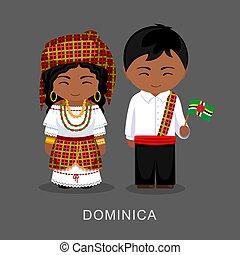 flag., 国民の 服, ドミニカ人