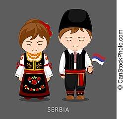 flag., 国民の 服, serbs